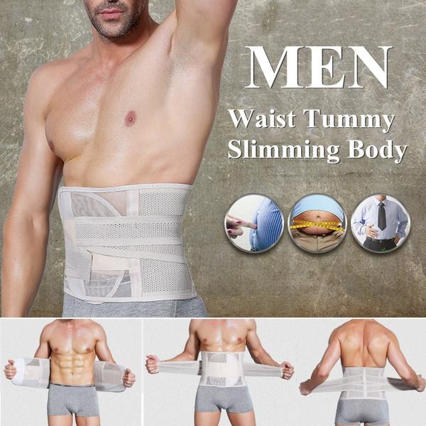 Mens Tummy Waist Belly Fat Burner Slimming Body Shaper Girdle Belt Corset M-2XL