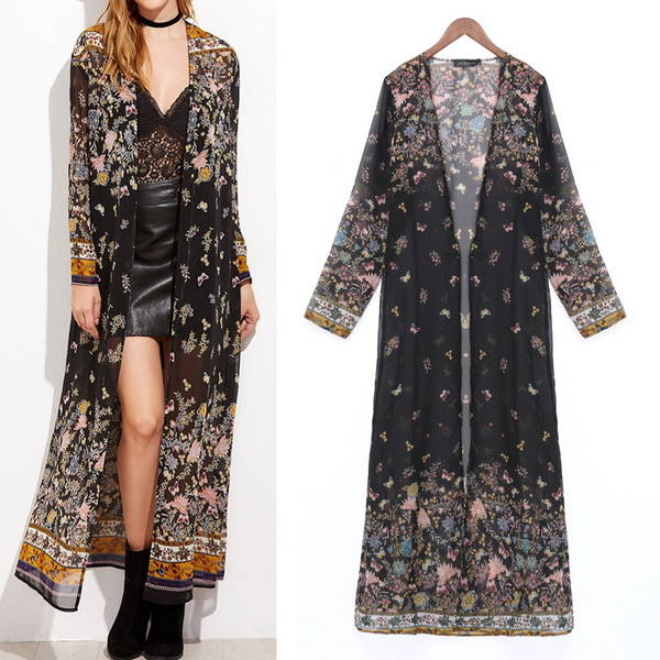 Summer, cardigan, Long Coat, Long Sleeve