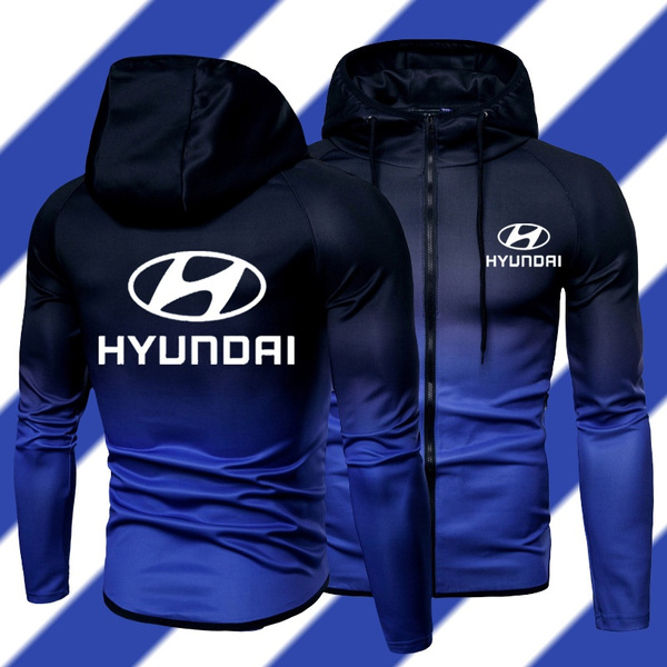 hyundailogo, hooded, Sweatshirts, gradient