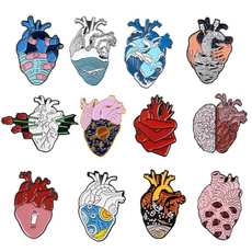 Heart, enamel, Pins, doctor