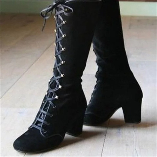 knee high victorian boots