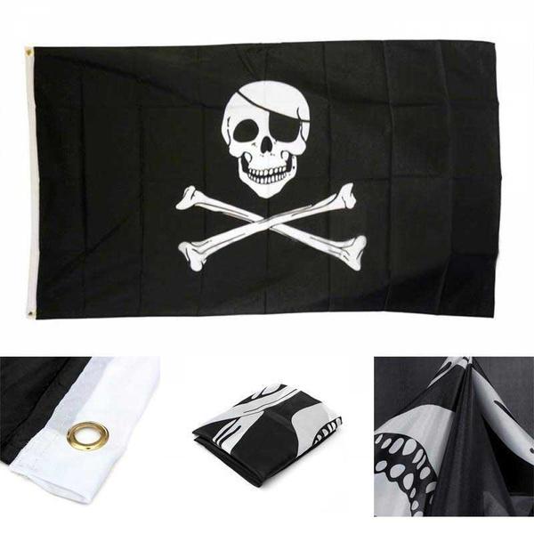 skullbanner, jollyrogerflag, piraterogerhangingflag, jollyrogerbanner