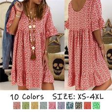 short sleeve dress, Chinese, Lady Fashion, Vintage Style