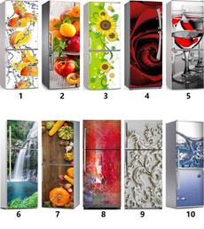 Flowers, art, freezedecal, Refrigerator
