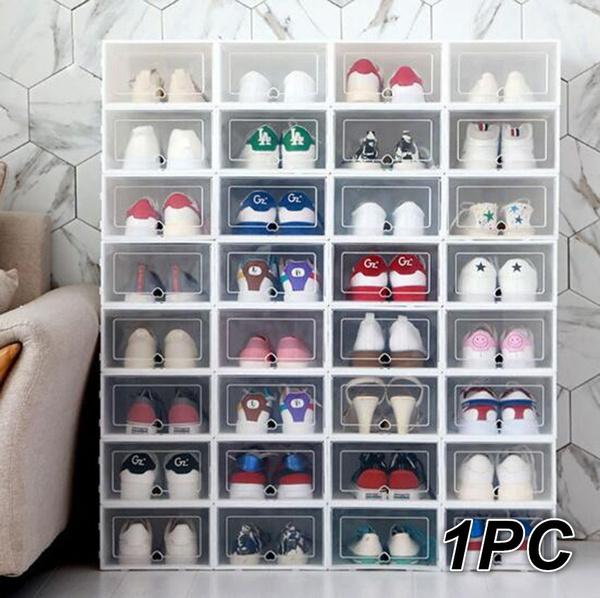 1pc Foldable Clear Shoes Box Storage, Shoe Box Storage