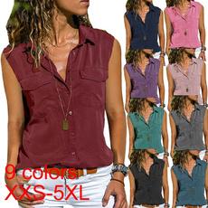 blouse, Deep V-Neck, fashion women, Plus Size