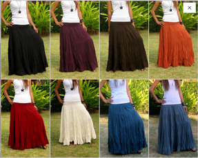 long skirt, high waist, Elastic, longskirtsforwomen