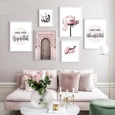 pink, gate, canvaswallart, Wall Art