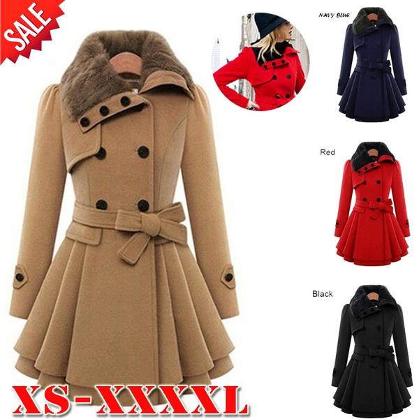 woolen, jacketforwomen, Plus Size, fur