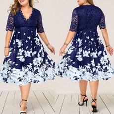 Plus Size, Lace, Cocktail, Evening Dress