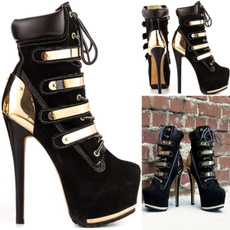 Fashion, gold, pureblackshoe, rosegoldmetal