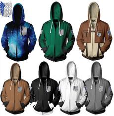 casual coat, 3D hoodies, shingekinokyojin, Cosplay