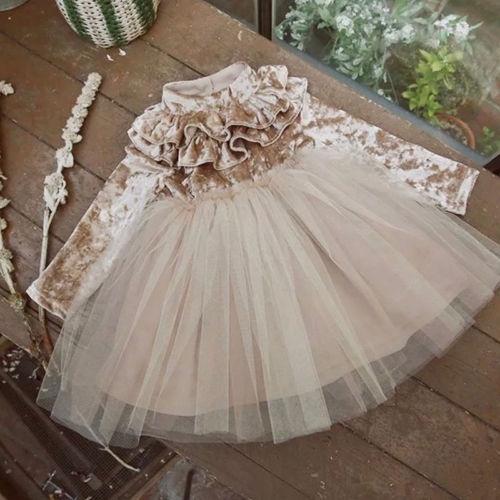Fleece, ruffle, Princess, Dress