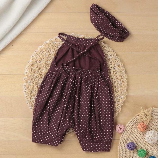 Baby Girl, purple, polka dot, Loose