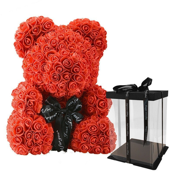 teddyrosebear, Teddy, Flowers, rosedecoration