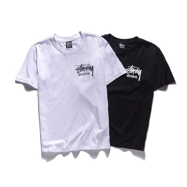 cottonshortsleeve, Fashion, Graphic T-Shirt, lettershortsleeve