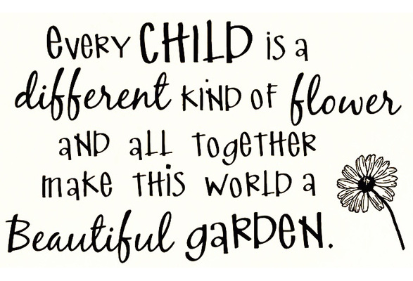 Xsgg Sticker - Every Child Is a Different Kind Of Flower And All Together  Make This World A Better Place Children Nursery Wall Decal Sticker Art  Mural Home D?cor Quote   Wish