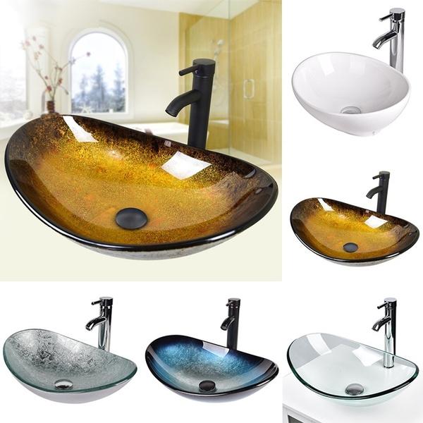 washroom, Home Supplies, basinbowl, vesselsinkwithfaucetset