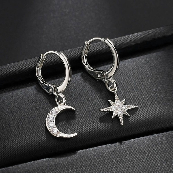 Sterling, moonearring, Fashion, Star