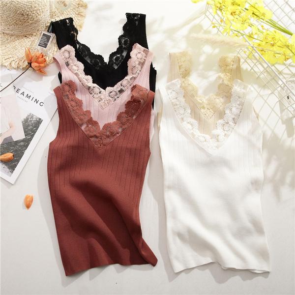 Summer, Knitting, Shirt, solid