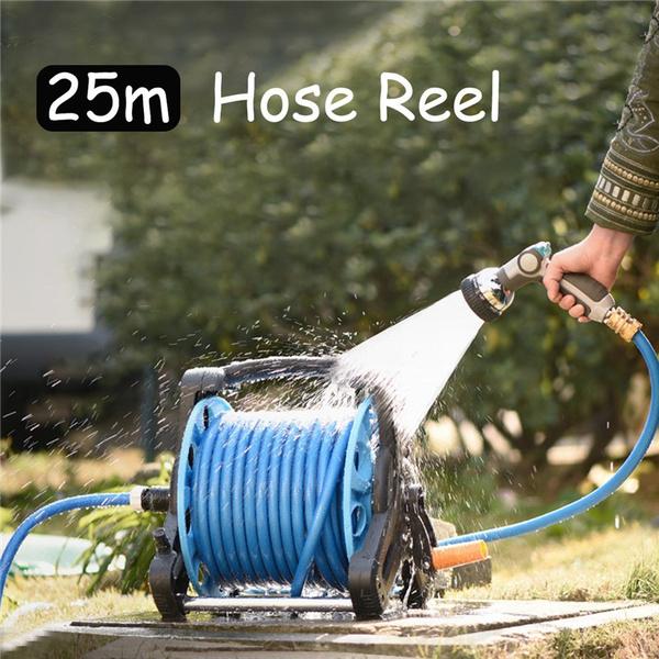 25m Wall Mounted Hose Reel Water Hose Reel Watering Spray Tool Portable Pipe Garden Watering Hose Pipe Reel Wish