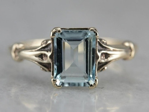 Couple Rings, Blues, Beautiful Ring, crystal ring