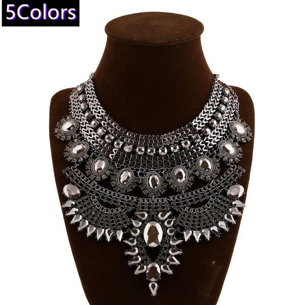 Metal Necklace, Jewelry, Women jewelry, Vintage