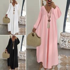 Fashion, shirtdresse, Long Sleeve, long dress