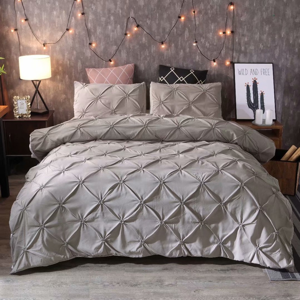 King, beddingpillow, bedsheetset, Grey