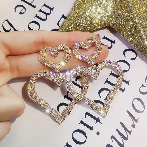 Heart, Tassels, dazzlingeardrop, Jewelry