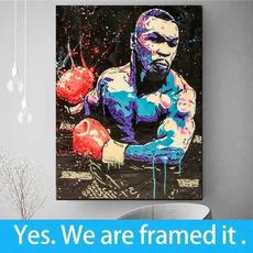 boxingmiketyson, canvasprint, handmade oil painting, Wall Art