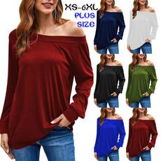 blouse, off shoulder top, Plus Size, Tops & Blouses