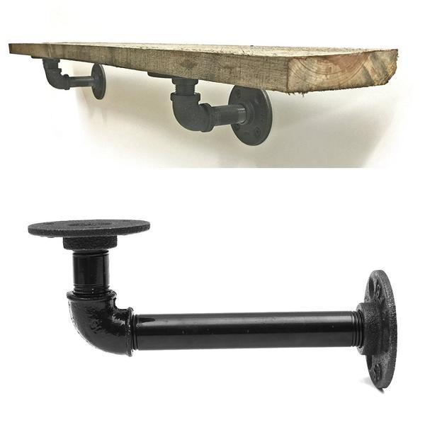 holdershelf, Home Decor, bafflesupport, ironpipeshelve