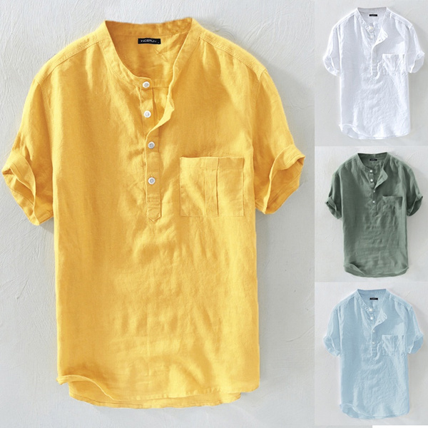 vnecktshirt, Summer, Shorts, cottonlinen