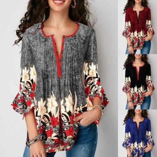 blouse, cardigan, Floral print, Shirt