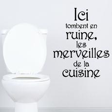toilet, Bathroom, muraldecal, Wall Posters