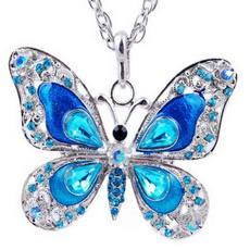 butterfly, Jewelry, Chain, necklace for women