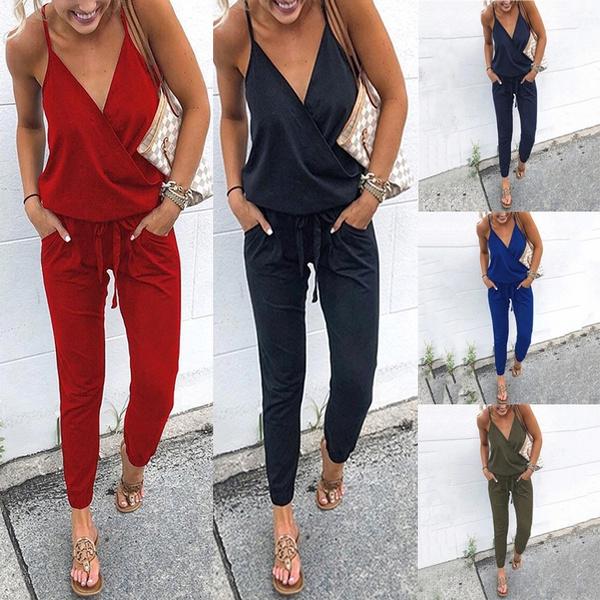 Summer, Women Rompers, Fashion, Halter