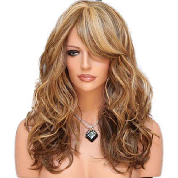 wig, womanhairwig, wavylongwig, brown