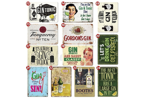 OPIHR GIN LOGO Retro Wall Plaque Kitchen House Mancave Tin Sign UK Metal Signs