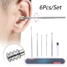 Steel, earpickcleaner, earwaxremovaltool, earspoon