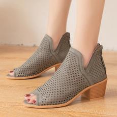 Sandals, fish, 工美hollowout, American