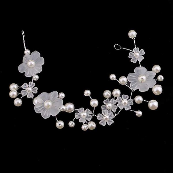 Flowers, headdress, Jewelry, pearls