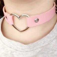 Necklace, Fun, puleatherchockerbondage, Fashion