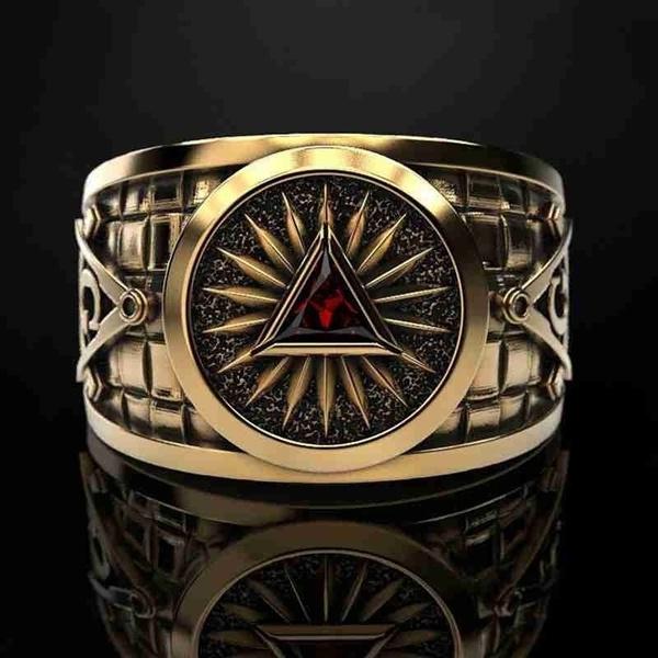 Steel, masonic, vintage ring, Jewelry