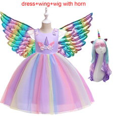 Fashion, Dress, girl dress, rainbowdresse
