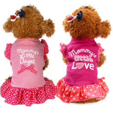 Summer, petcothe, puppy, sleeve dress