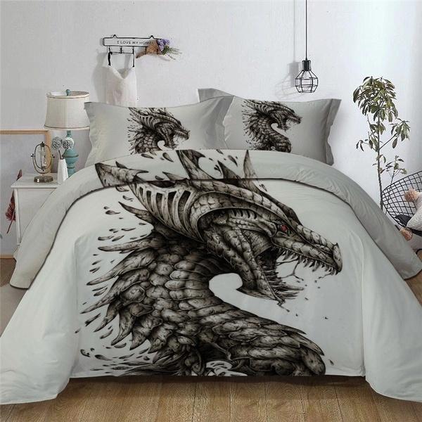 Duvet Cover Dinosaur Bedding Bed Set, Queen Size Dinosaur Bedding Set