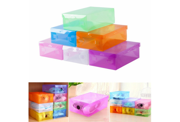 Clamshell Shoes Container Sundries Room Toys Containers Storage Box Organizer SU