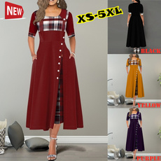 Plus Size, Sleeve, long dress, Dress